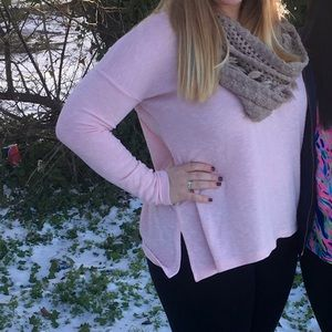 Light pink v neck sweater